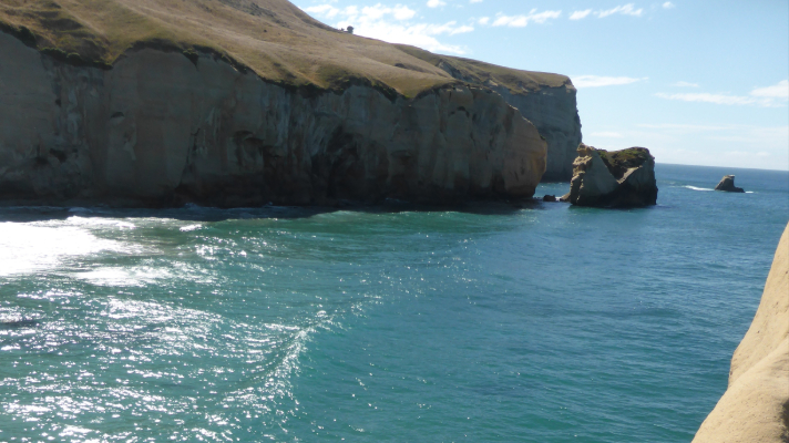 Tunnel beach New Zealand water