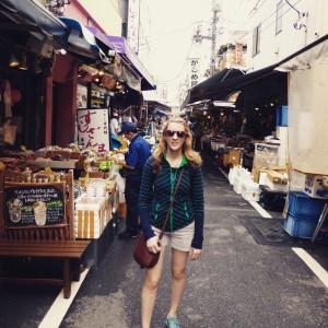 Tsukiji Market laneways.