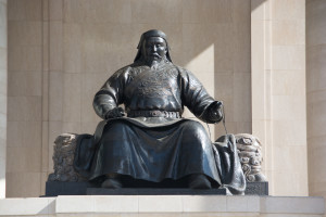 Chinggis Square- Statue of the great man himself.