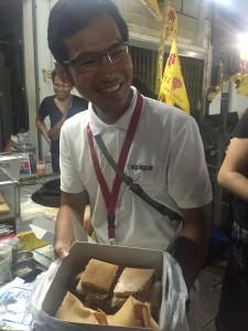 Natt, our guide offering snacks