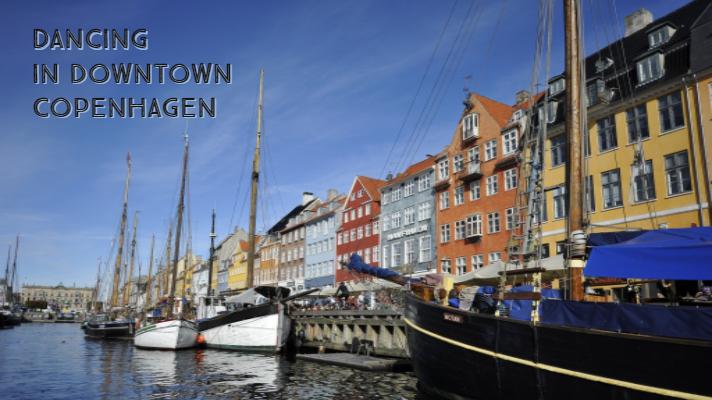 Dancing in downtown Copenhagen