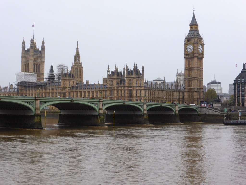 Big Ben and Westminster looking fabulous despite the dreary weather