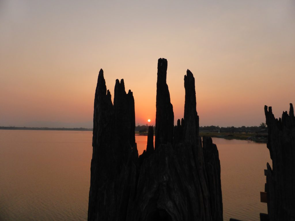 Sunrise from Ubein Bridge, Mandalay