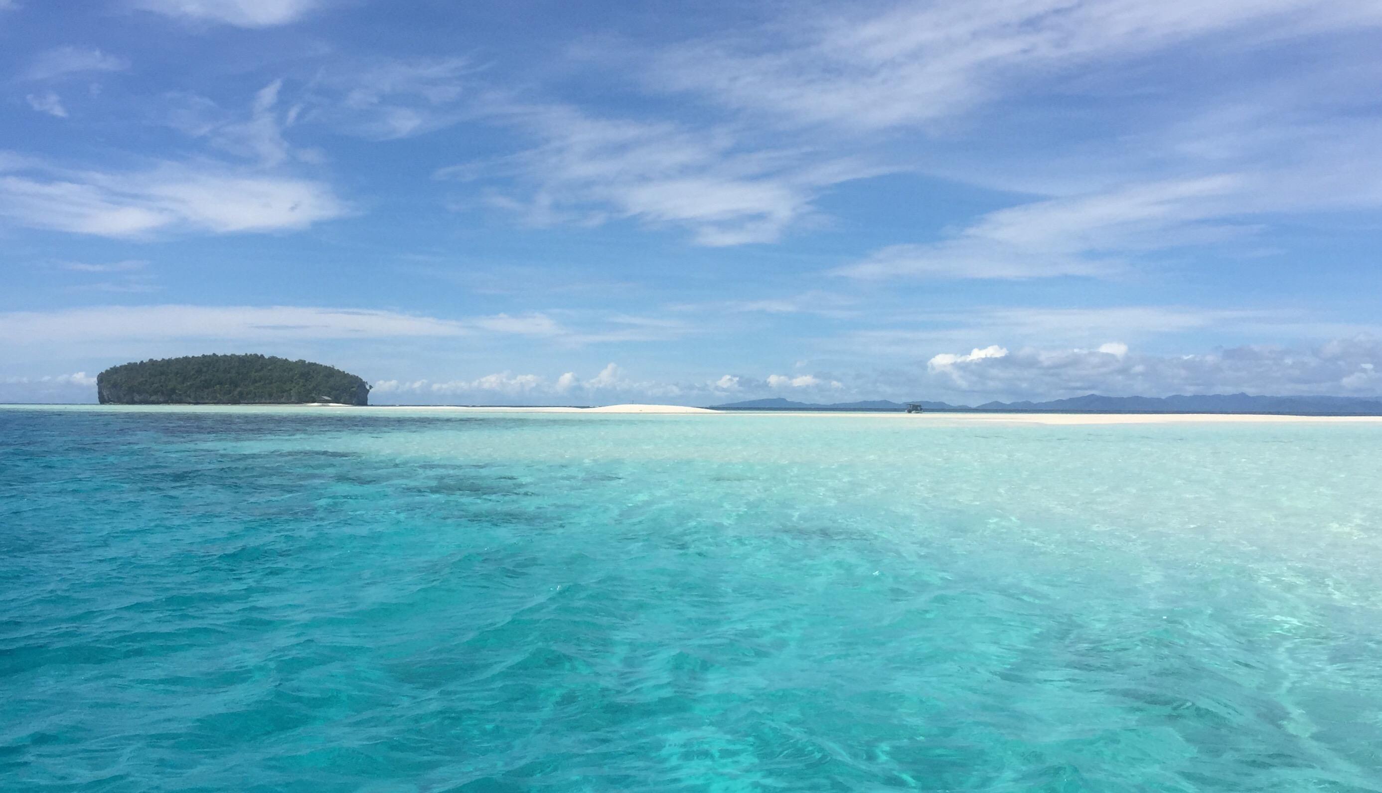 Kri floating island Raja Ampat, indonesia