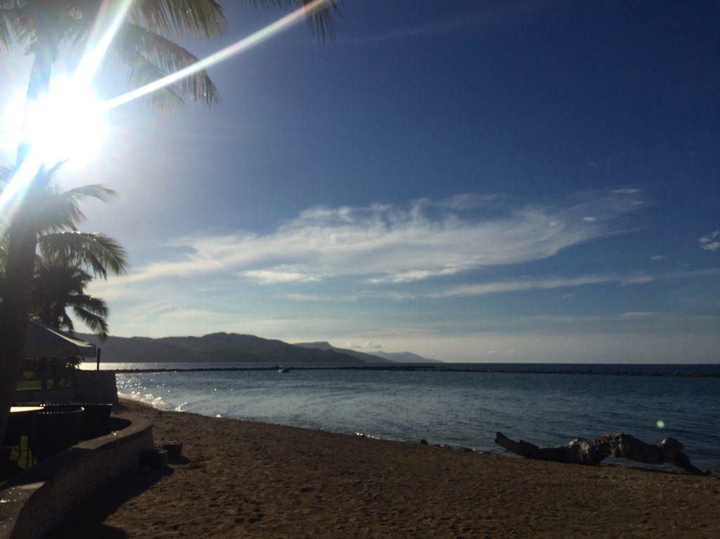 Beautiful sunrise on the beach, Misibis Bay