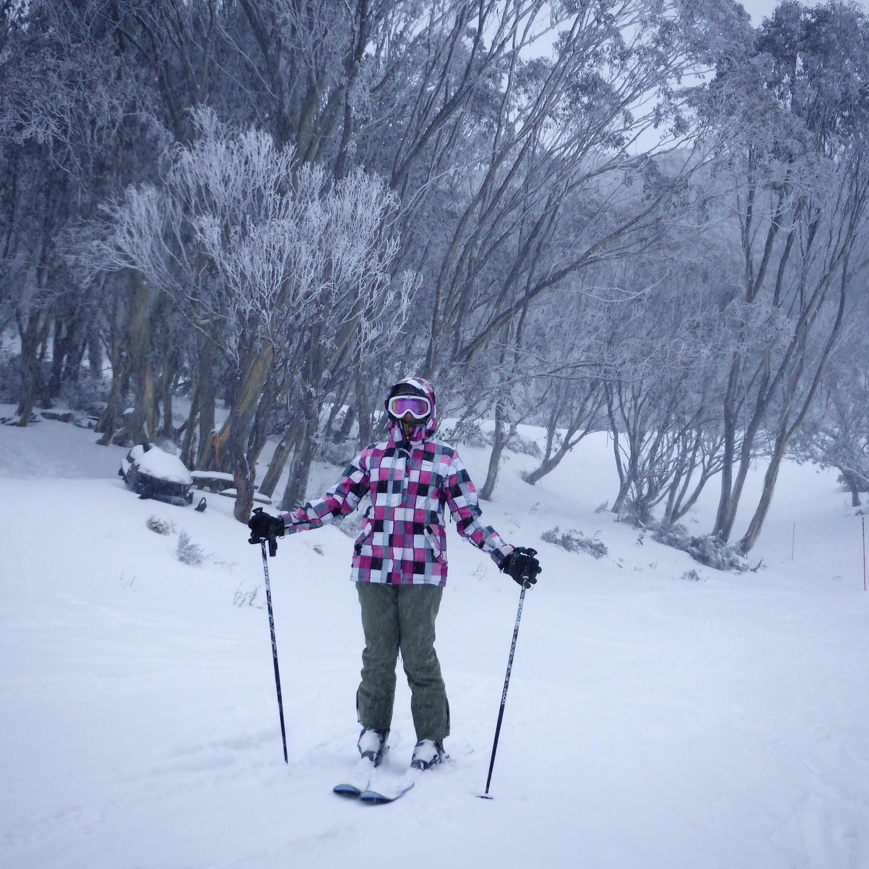 Ski time at Falls Creek, Traveling Honeybird