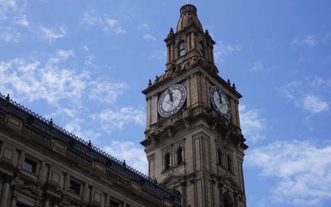 Melbourne GPO clocktower Traveling Honeybird