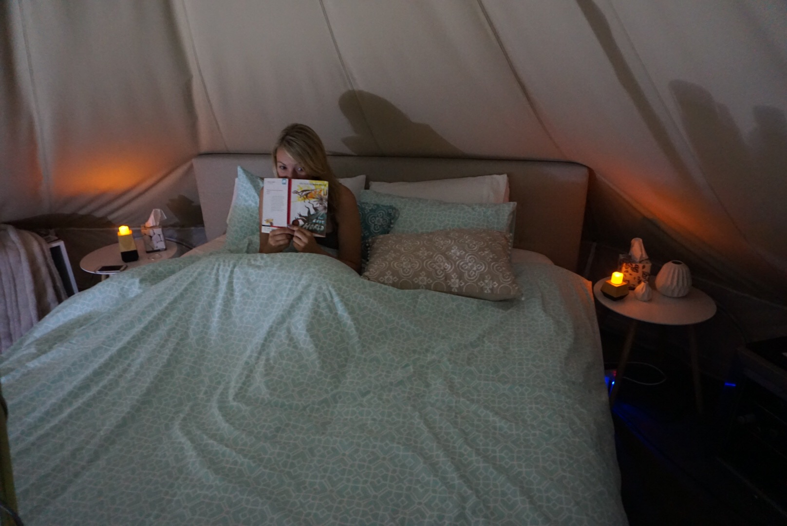 bed time glamping