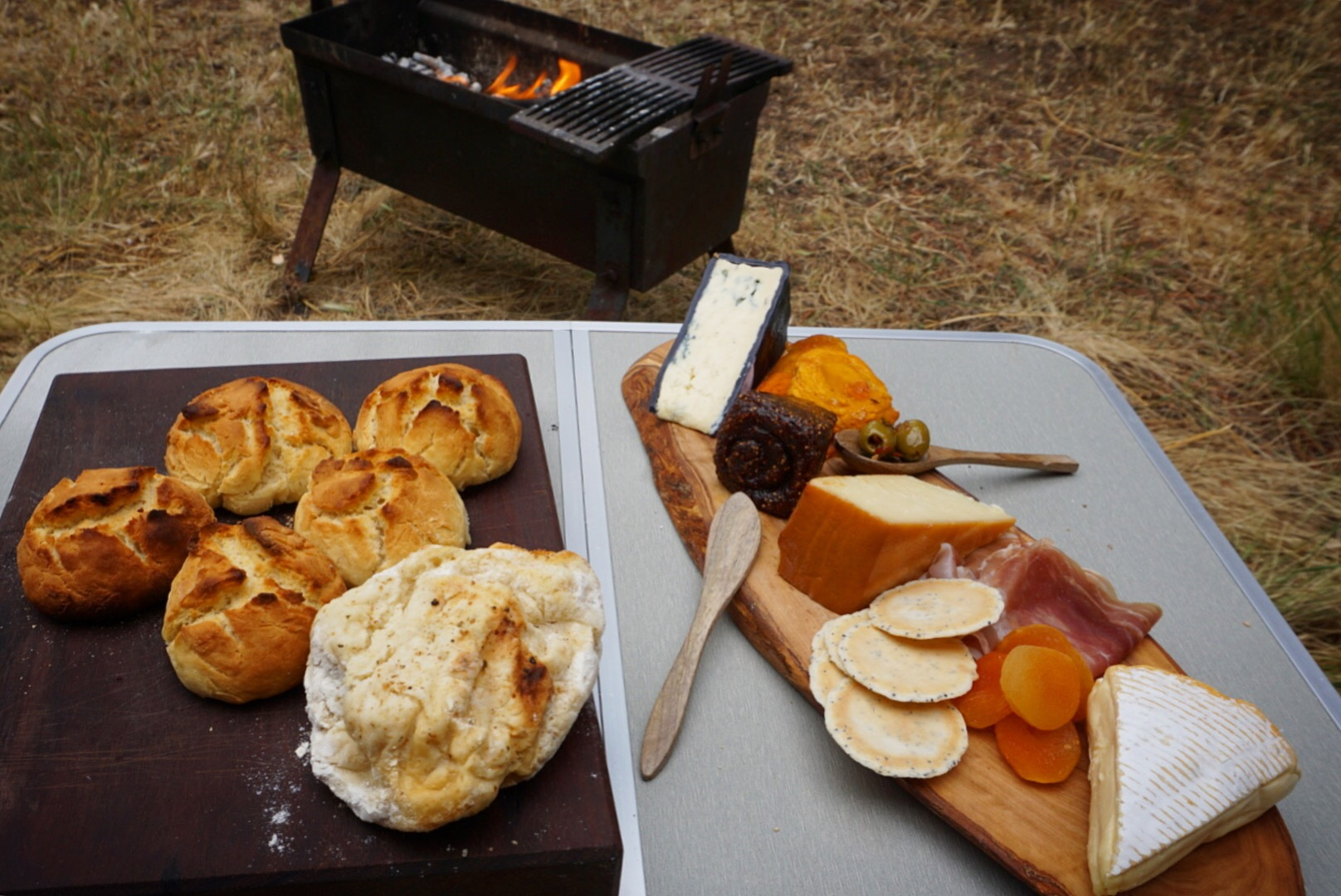 Campfire cheeseboard Traveling Honeybird