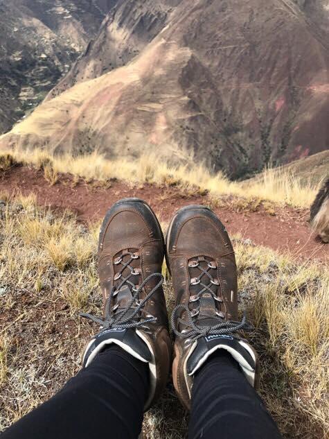 Ahnu boots in Peru
