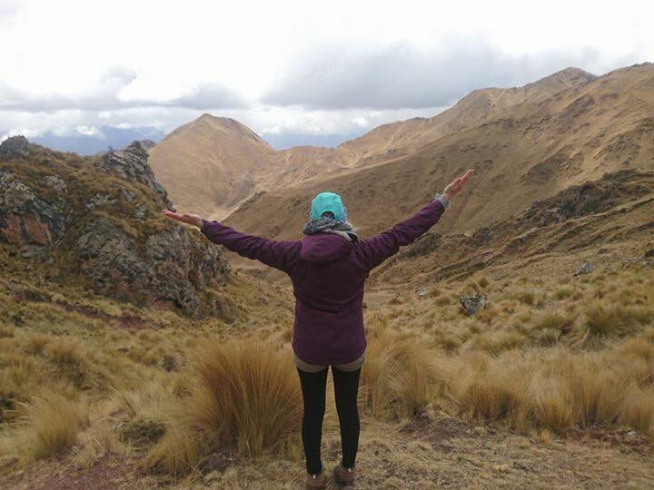 Hiking in the Andes Peru