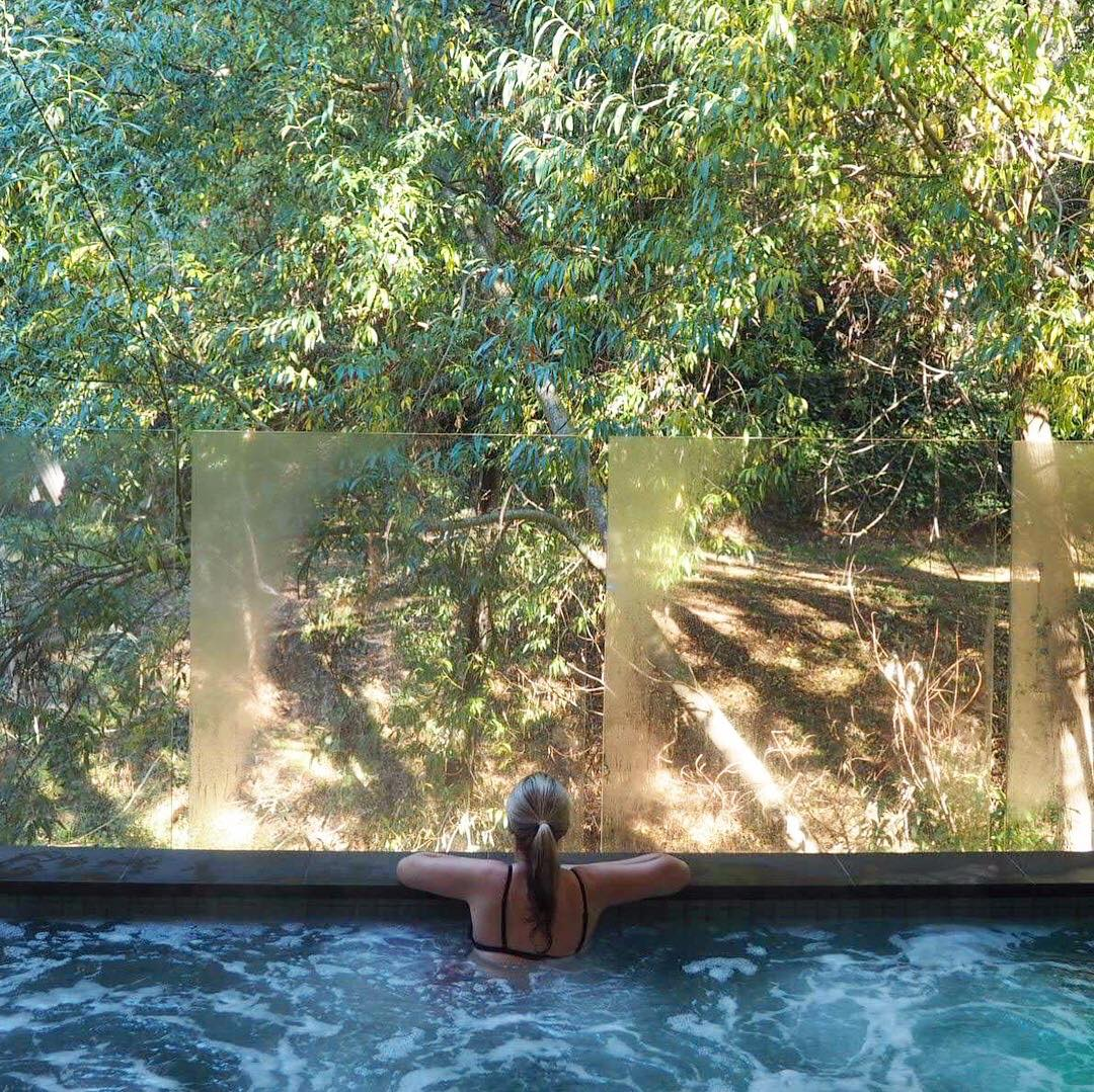 Relaxing Jean in the Hepburn Sanctuary relaxing in the water