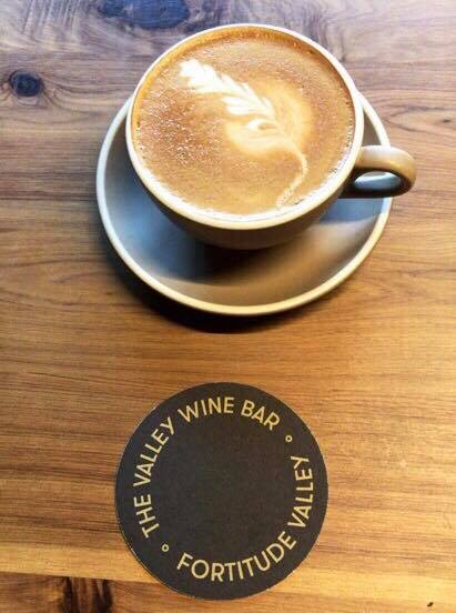 Latte from The Valley Wine Bar