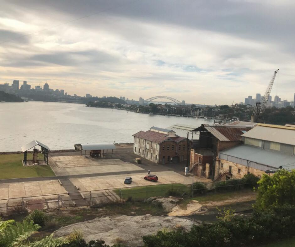 View from our apartment on Cockatoo Island