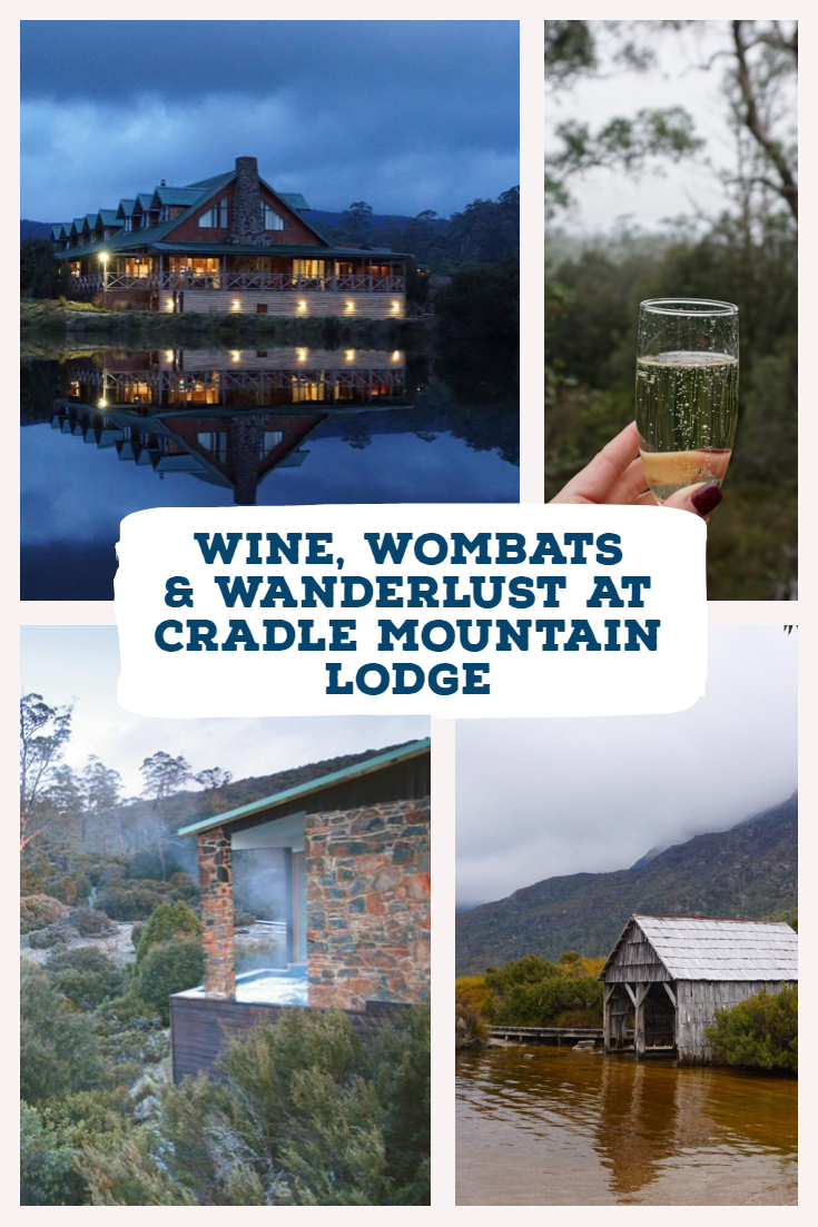 Wine, wombats, and wanderlust at Cradle Mountain Lodge. The perfect place for a ladies luxury getaway. Tasmania is stunningly beautiful and here's one small spot that showcases it all. #Tasmania #Australia #foodie #Melbourneblogger #femaletravel #explore