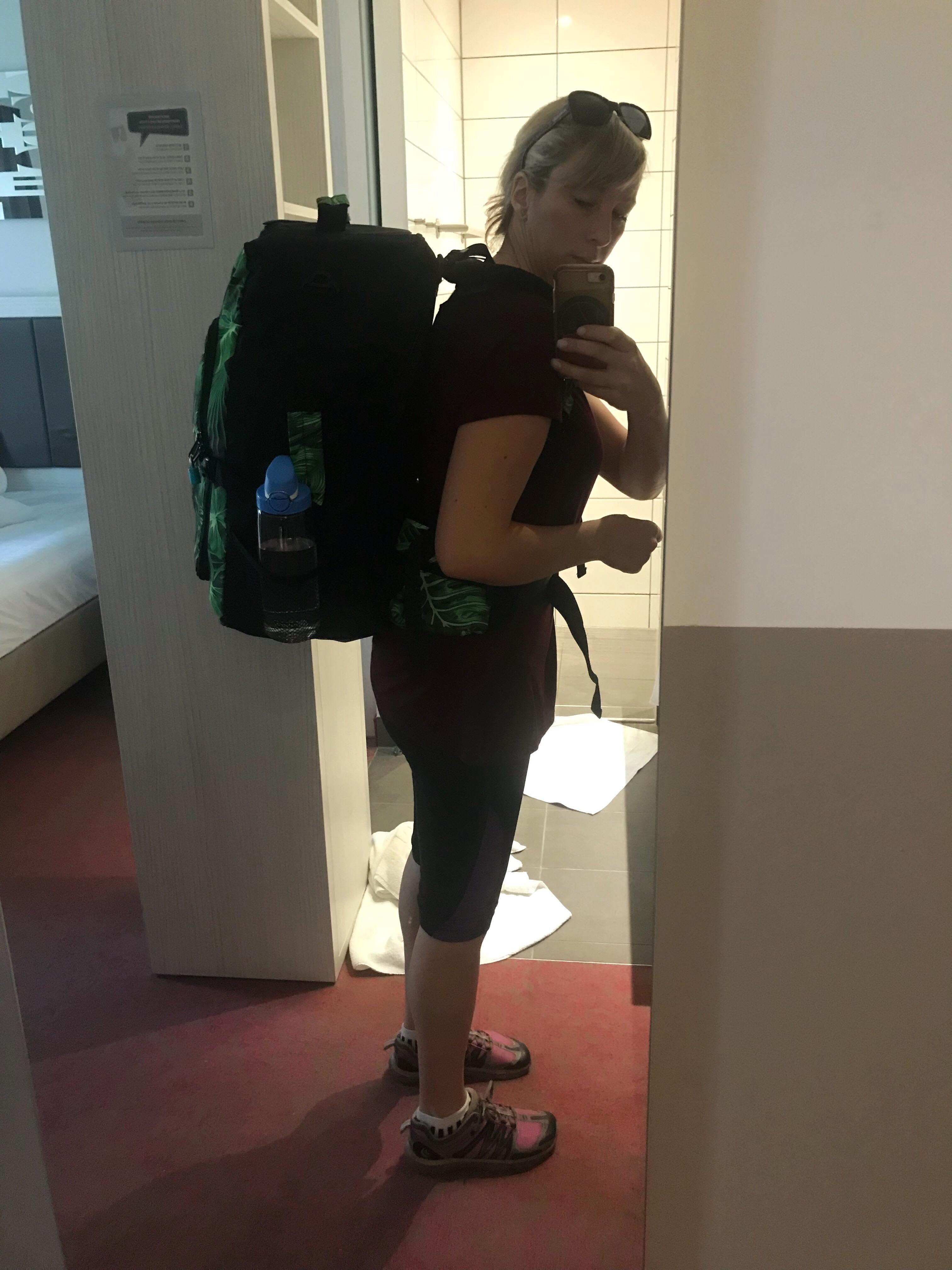 Elephant stripes bag fits me like a glove