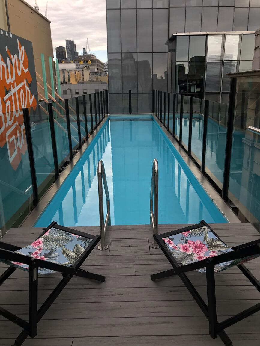 Rooftop pool a the Adelphi Melbourne