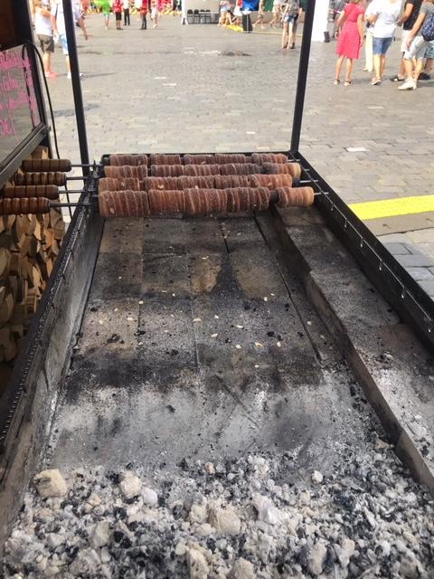 Trdelnik roasting themselves