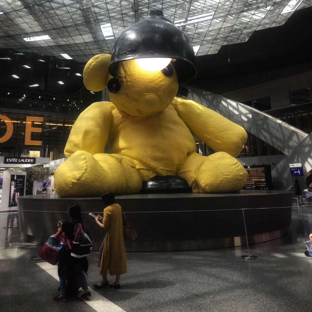 Lamp Bear Doha Airport