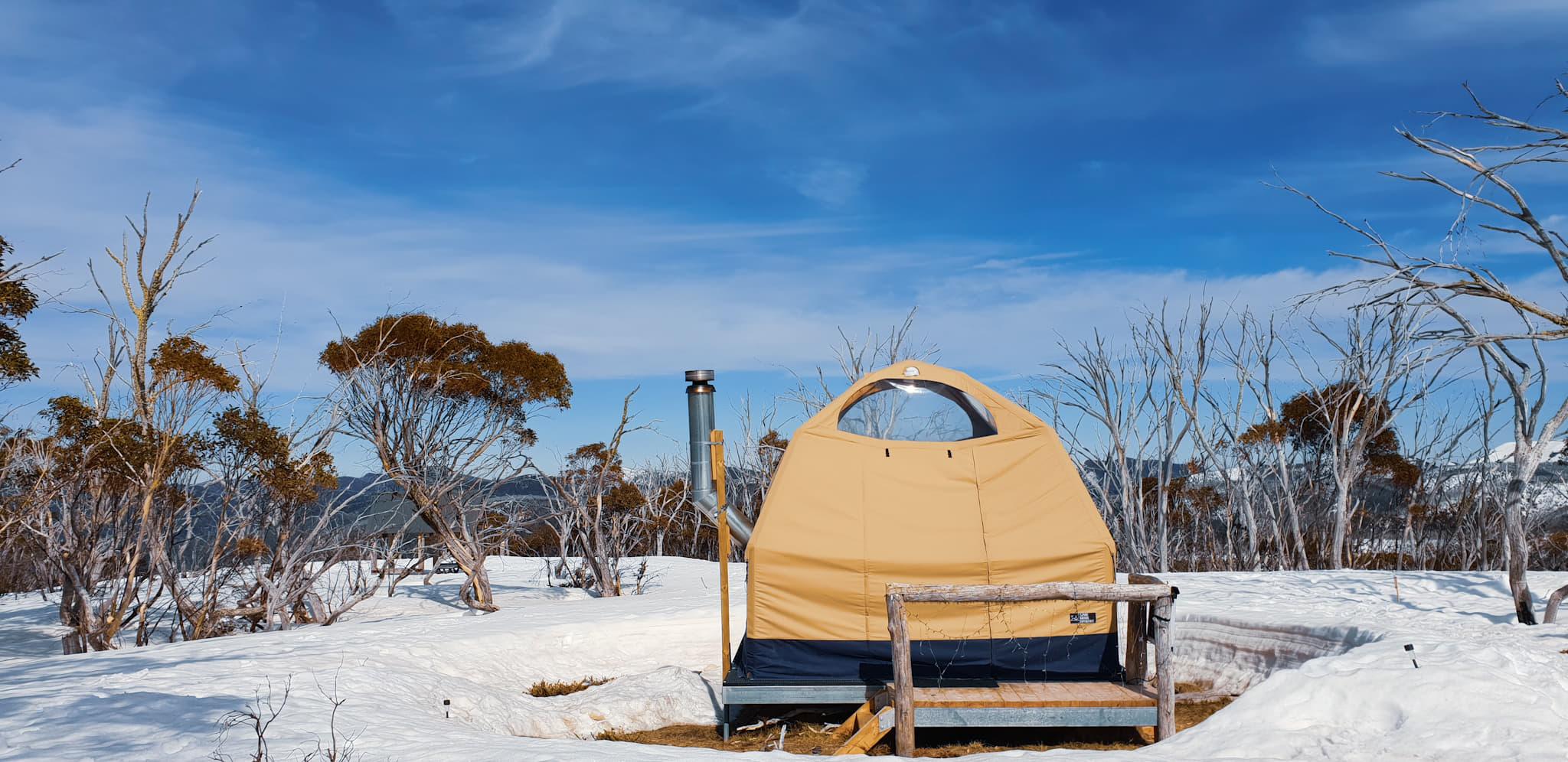 Snow dome in Alpine Nature Experience Australia