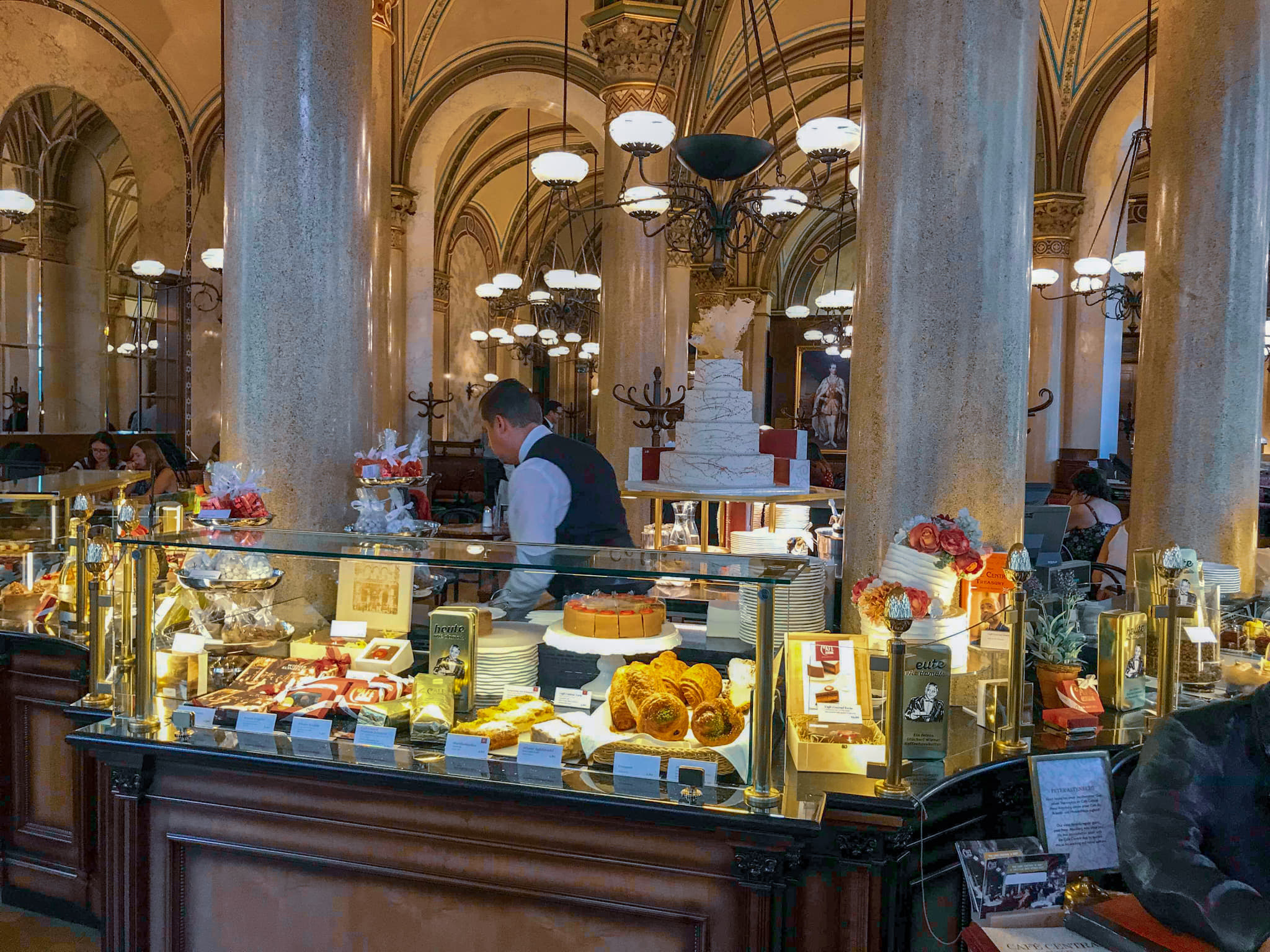 Cafe central Vienna cake selection