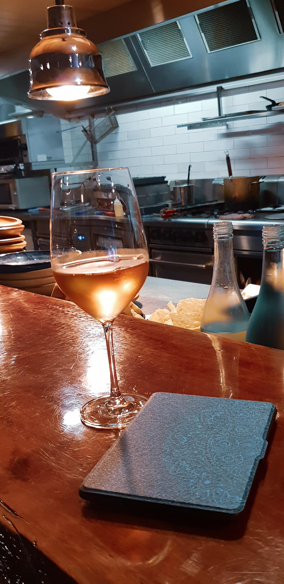 Wine and kindle times at Gogyo Surry Hills