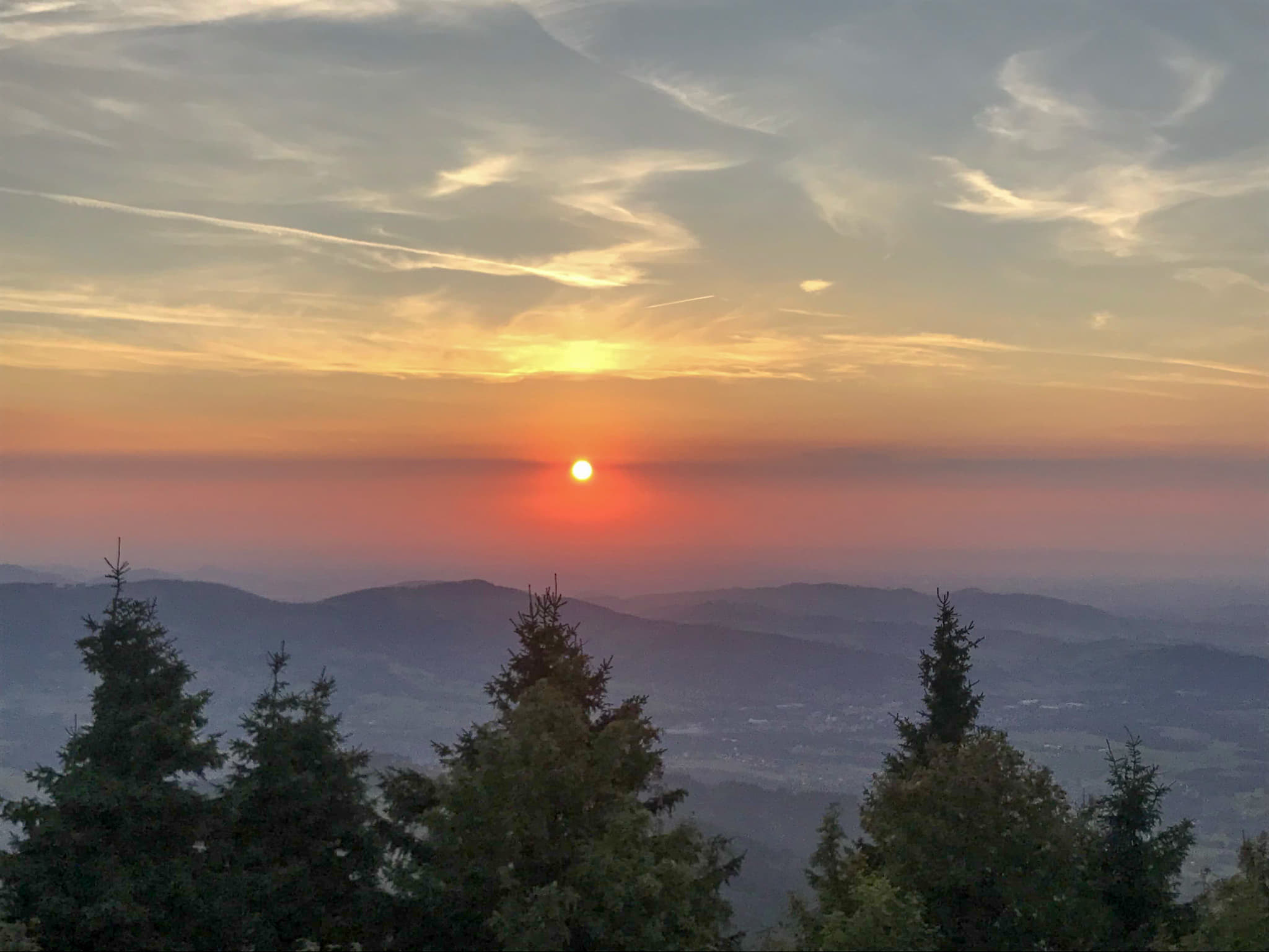 Amazing sunset at Lysa Hora