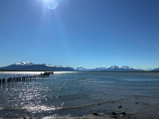 Foreshore at Puerto Natales Chile Traveling Honeybird