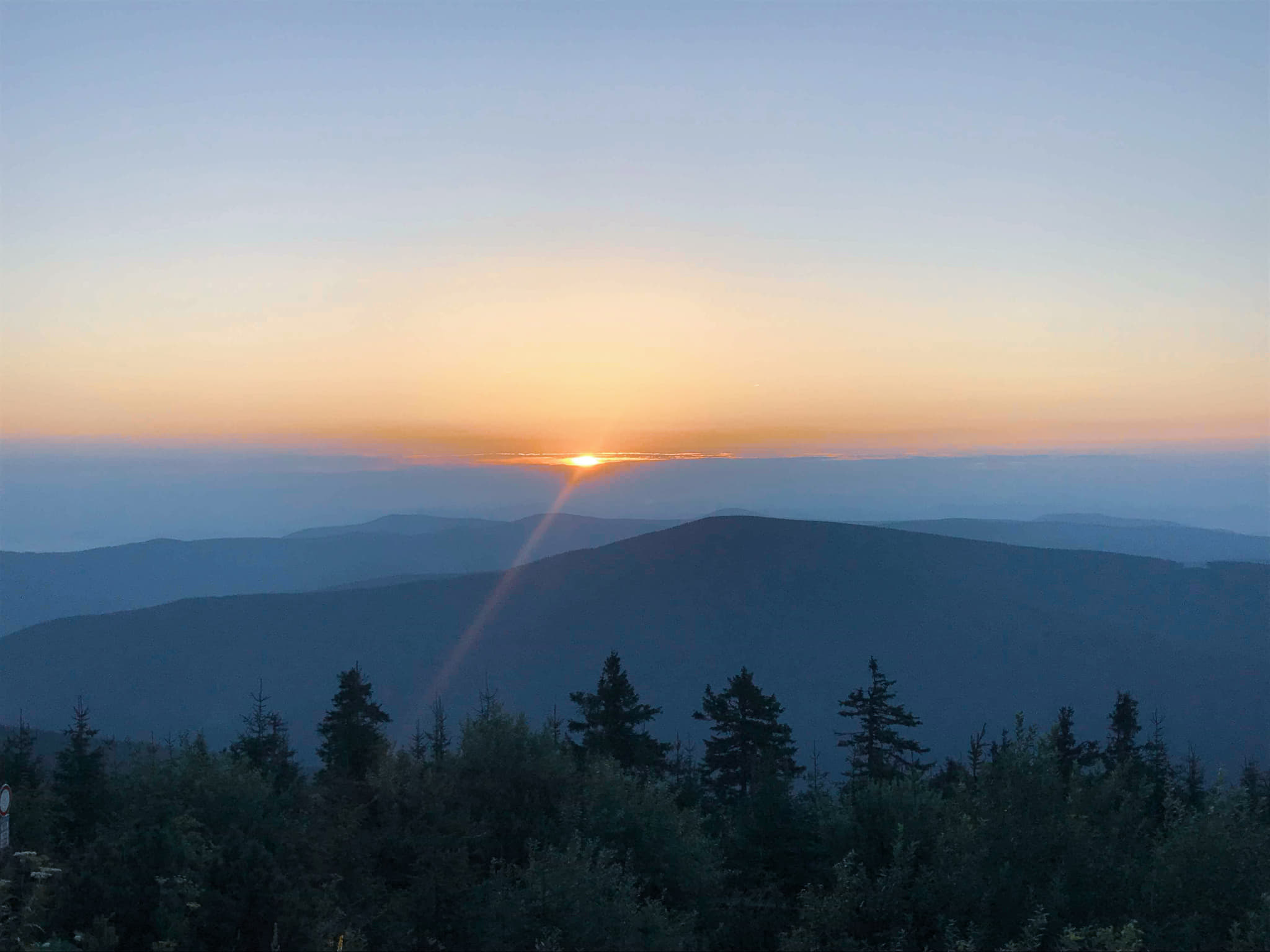 Sunset at Beskydy mountains in Czech Traveling Honeybird