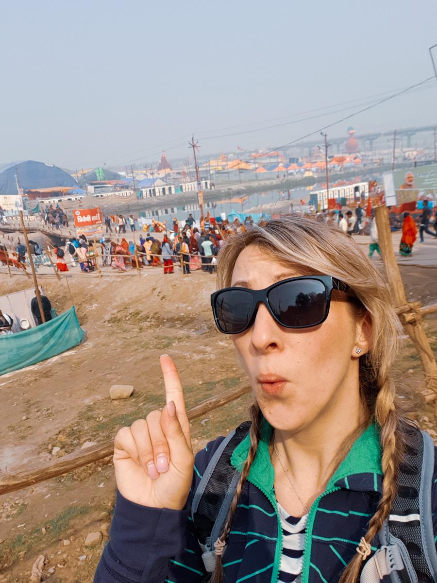 Jean enjoying the Kumbh Mela