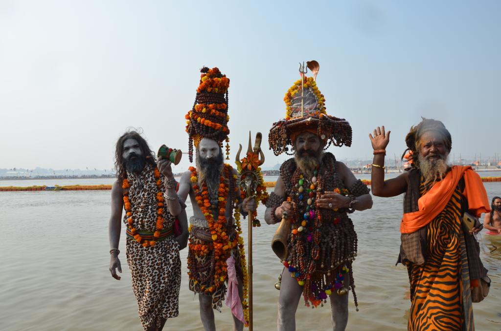 Naga Sadhus at the Kumbh Traveling Honeybird
