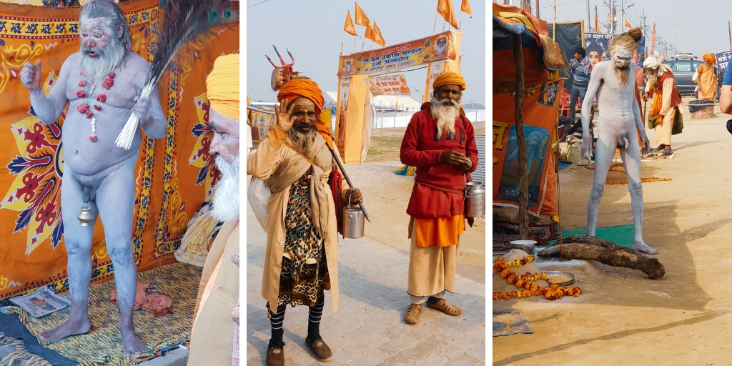 Naga Sadhus  at the Kumbh Mela 2019 in India
