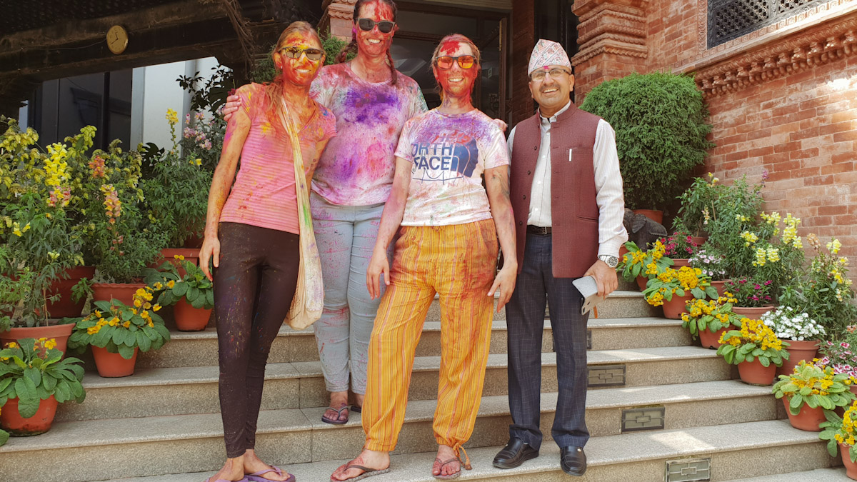 How girls look after Holi celebrations in Nepal Traveling Honeybird