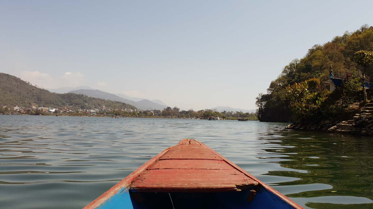 Lake Phewa boating in Nepal