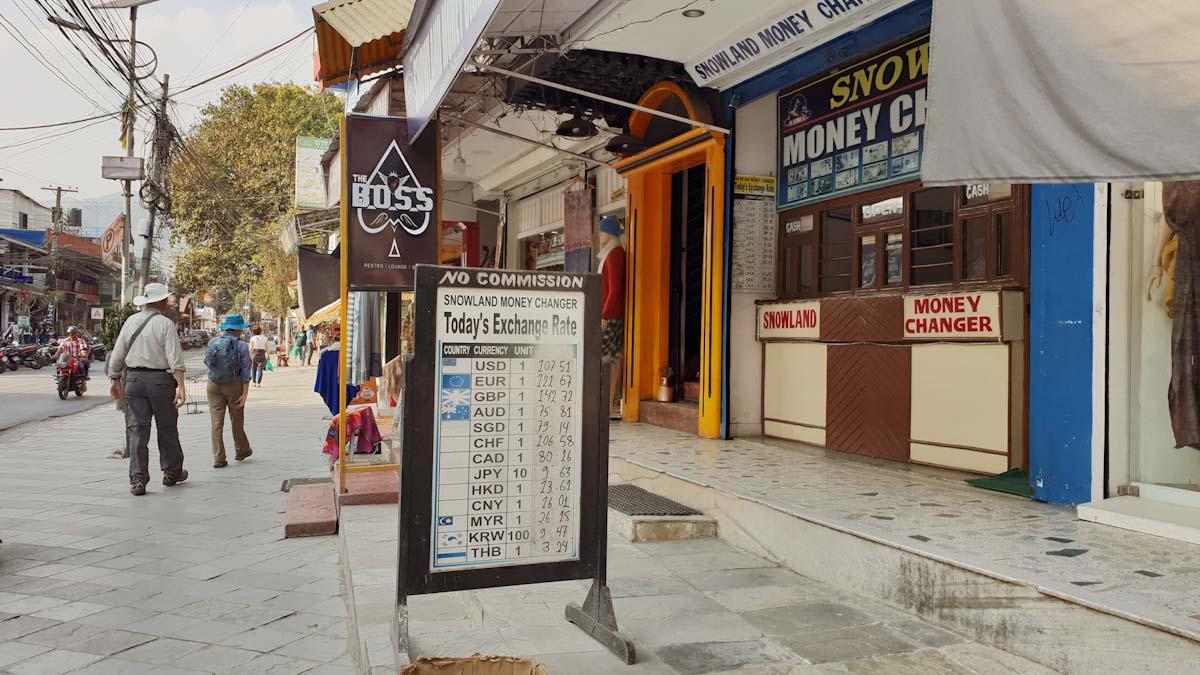 Money exchange in Nepal Traveling Honeybird