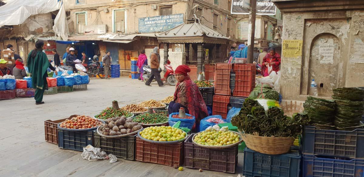 Old food market in Kathmandu