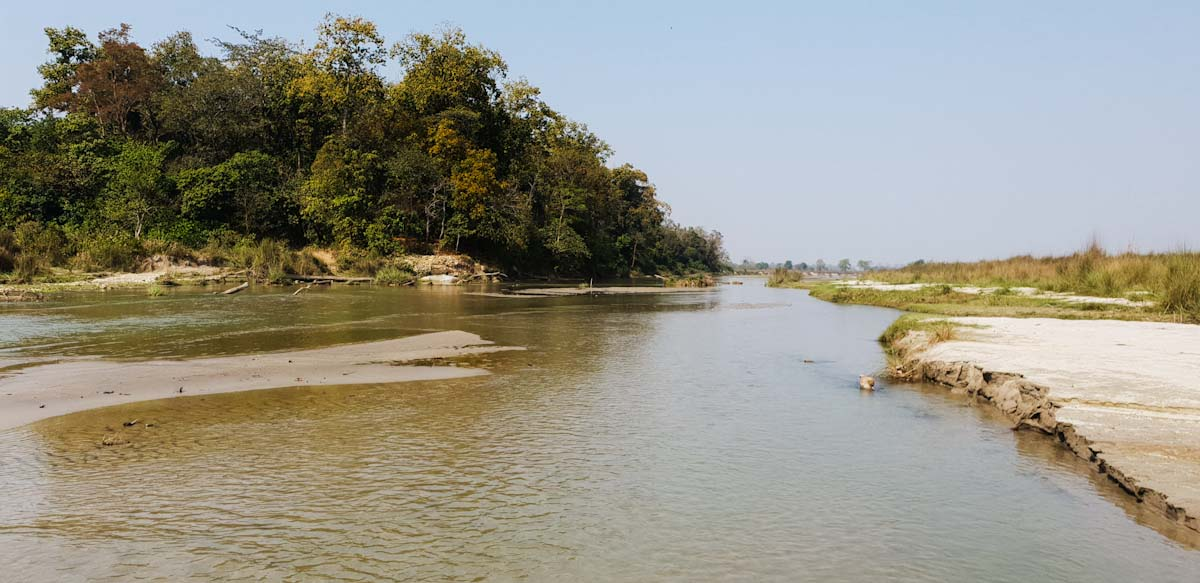 River crossing Jeep Safari Chitwan National Park