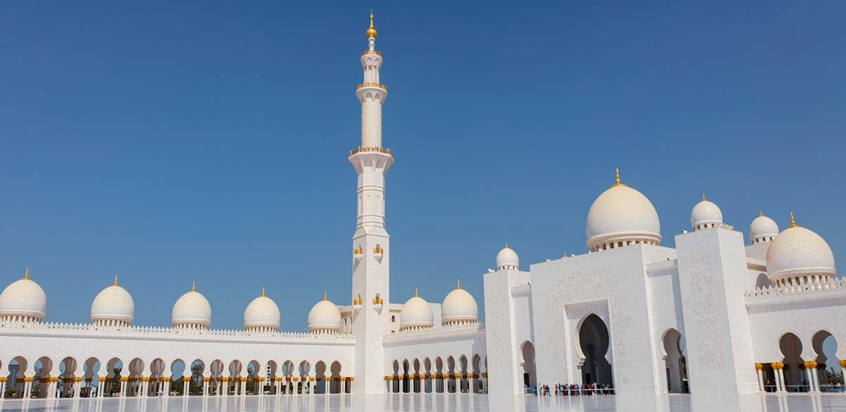 Grand Mosque afternon Abu Dhabi