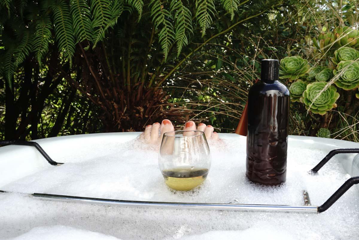 Having a bath in Tasmania