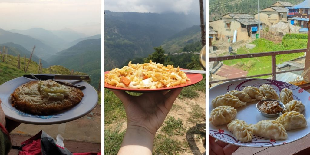 Food on Mohare Danda Trek