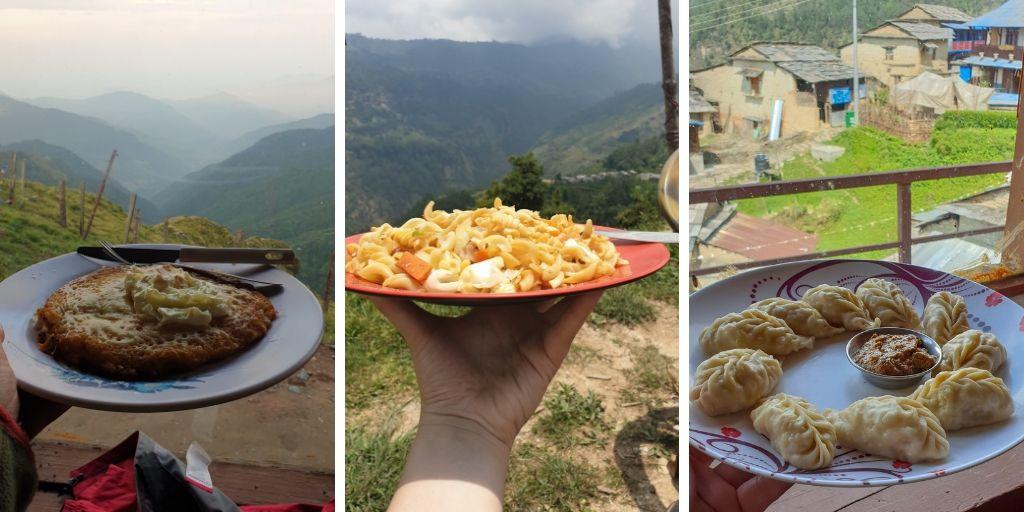 Food on Mohare Danda Trek
