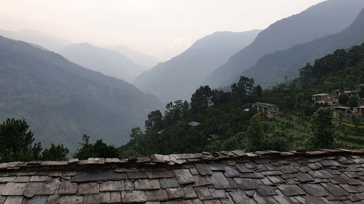 Village rooftop on Mohare Danda