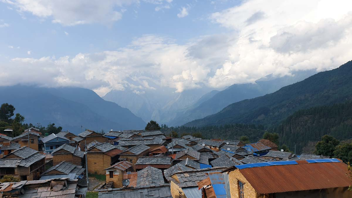 A typical himalayan village in Nepal