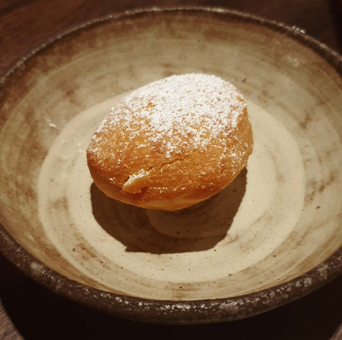 Beignet at Shadow Play wine bar