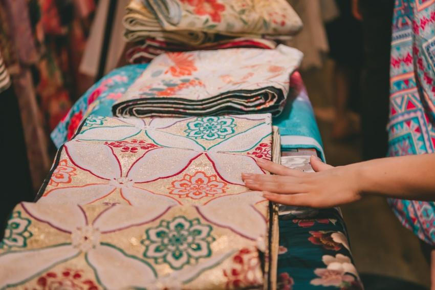 Picking our kimonos