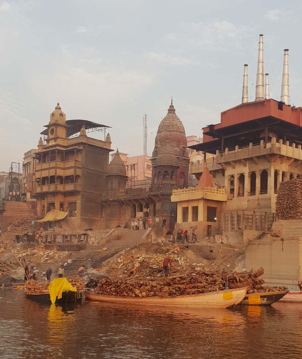 Crematorium ghat in Varanasi