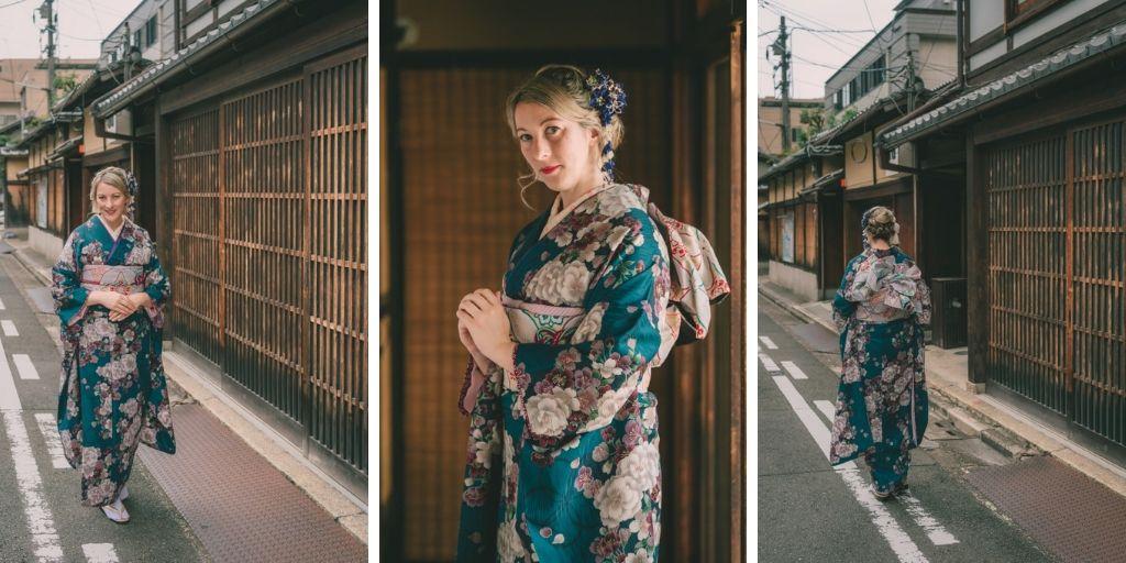 Jean dressed in Kimono in Kyoto