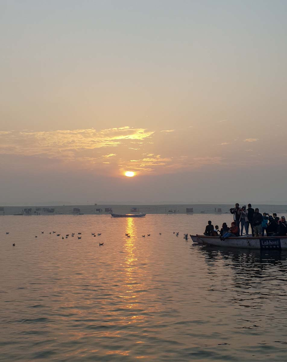 River cruise sunrise in Varanasi