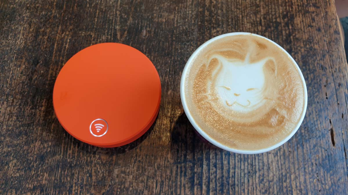 Skyroam and a latte