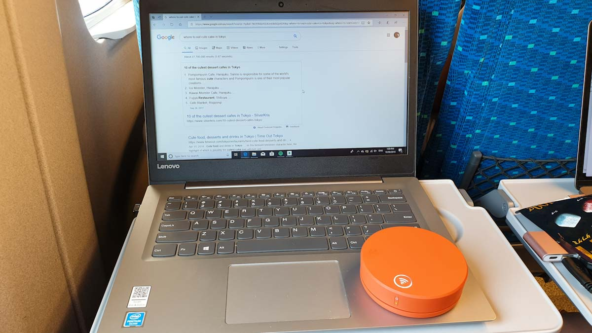Skyroam on the train in japan